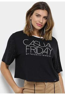 Blusa My Favorite Thing (S) Casual Friday Feminina - Feminino-Preto
