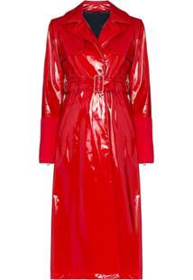 Kirin Trench Coat Com Cinto - Vermelho