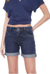 Bermuda Jeans My Favorite Thing(S) Reta Pespontos Azul