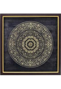 Quadro De Parede C/ Mandala Emoldurado