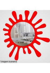 Espelho Splash- Espelhado & Vermelho- 34X33X5Cm-Cia Laser