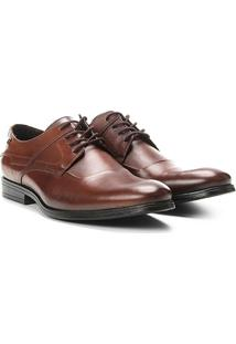 Sapato Social Couro Jorge Bischoff Bonn - Masculino-Marrom
