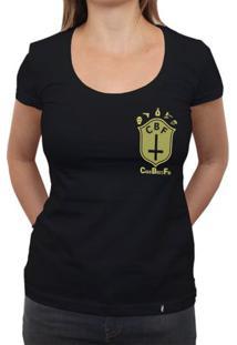Cbf (Brasão Amarelo) - Camiseta Clássica Feminina