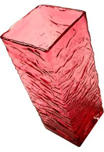 Vaso De Vidro Decorativo Rose Grande
