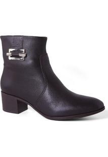 Bota Bottero 266106 Ankle Boots Feminina Dark Brown