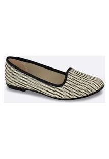 Sapatilha Feminina Slipper Tweed Moleca