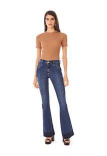 Calca Boot Cut Carol Cos Intermediario Com Reserva Jeans