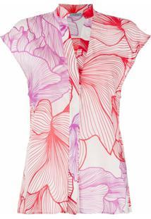 Malo Blusa Com Estampa Floral - Roxo