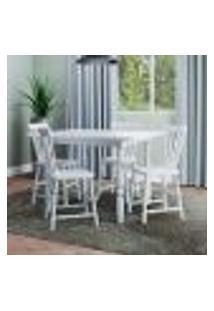 Conjunto De Mesa Dobrável Com 4 Cadeiras Andreia Branco