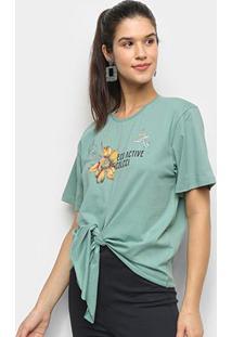 Camiseta Colcci Eco Active Feminina - Feminino-Verde