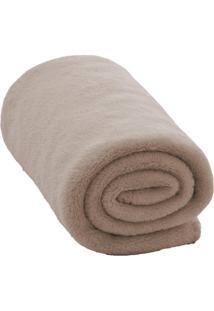 Cobertor De Microfibra Baby- Bege- 80X110Cm- Camcamesa