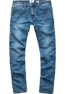 Calça John John Slim Foggia 3D Jeans Azul Masculina (Jeans Medio, 38)