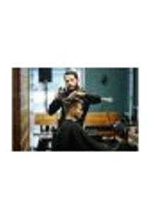 Painel Adesivo De Parede - Barbearia - Barber Shop - 978Pnp