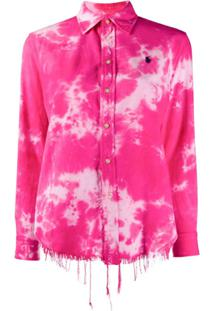 Polo Ralph Lauren Tie Dye Print Shirt - Rosa