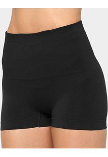 Calcinha Boxer Lupo Loba Redutora Slim Sem Costura - Feminino-Preto