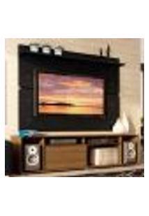 Rack Madesa Cancun E Painel Para Tv Até 65 Polegadas - Rustic/Preto