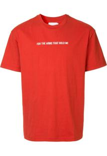 Off Duty Camiseta 'For The Arms That Hold Me' - Vermelho