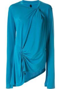 Unravel Project Blusa Assimétrica Com Detalhe Franzido - Azul
