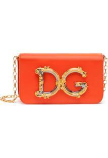Dolce & Gabbana Bolsa Transversal Dg - Laranja
