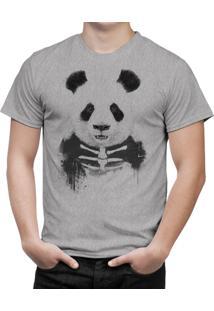 Camiseta Bottonshirt Zombie Panda Mescla