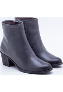 Ankle Boot Couro Chumbo