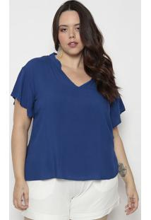 Blusa Com Recorte- Azul Escuro- Arsenalarsenal