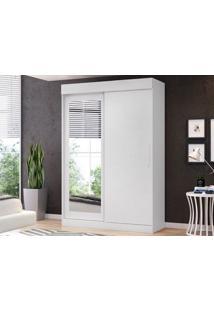 Guarda-Roupa 2 Portas Com Espelho Bolt Branco Fosco – Lc Móveis