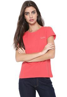 Camiseta Planet Girls Bordada Laranja