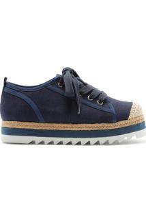 Sneaker Flatform Sporty Natural Blue | Schutz