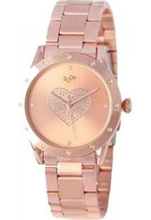 Relógio Feminino Heart - Feminino-Rosê