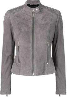 Belstaff Mollison Leather Jacket - Cinza