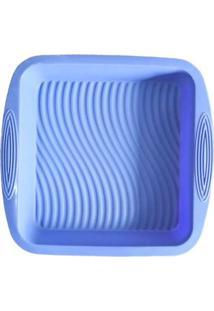 Forma De Silicone Quadrada Azul 22 X 22 X 5 Cm