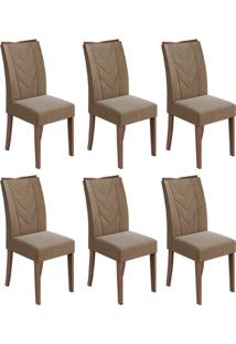 Conjunto Com 6 Cadeiras Atacama L Imbuia E Marrom