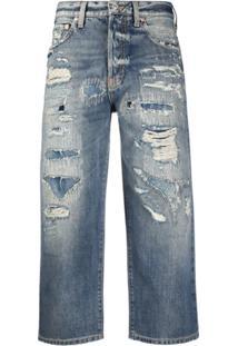 Givenchy Calça Jeans Reta Cropped - Azul