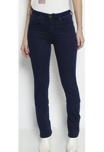 Jeans Marisa Slim Com Bolsos- Azul Escuro- Forumforum