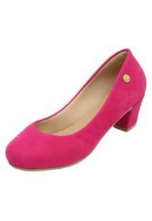 Scarpin Donna Santa Bico Redondo Salto Médio Pink