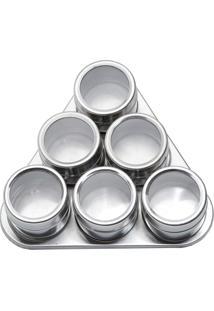 Kit Porta Condimentos 6 Peças Imantado Bon Gourmet