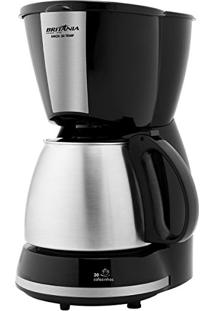 Cafeteira Inox 30 Temp 110V 1,2L Preta 800W - Britânia