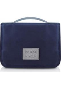 Necessaire Jacki Design De Viagem Com Gancho De Poliéster - Unissex-Azul