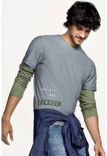 Camiseta Masculina Hering Em Malha Piquê