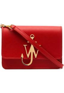 Jw Anderson Bolsa Transversal Com Logo - Vermelho
