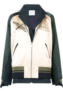 Sacai Hawk Embroidered Bomber Jacket - Neutro
