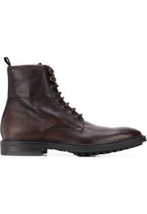 Paul Smith Ankle Boot Com Cadarço - Marrom
