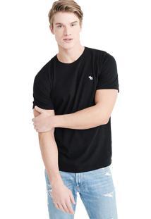 Camiseta Manga Curta Abercrombie Básica Preta
