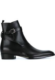 Saint Laurent Ankle Boot Modelo 'Wyatt' - Preto