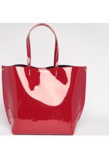 Bolsa Com Inscrição- Vermelha- 36X48X17Cm- Loucoloucos E Santos