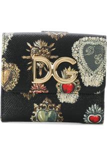 Dolce & Gabbana Carteira De Couro Estampada - Preto