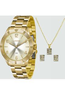Kit Relógio Feminino Lince Lrg4367L K187S2Kx