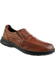 Sapato Social Constantino Bico Redondo Masculino - Masculino-Marrom