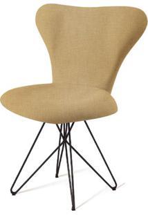 Cadeira Jacobsen Series 7 Bege Com Base Estrela Preta - 55924 Sun House